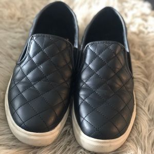 Massimo black quilted sneakers